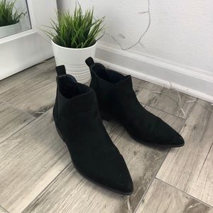 #Booties #Boots #Black #Suade Used size 6 No box.
